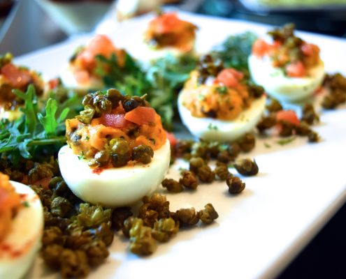 Deviled Eggs with Capers