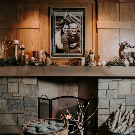 Fire place at Lyon Oaks