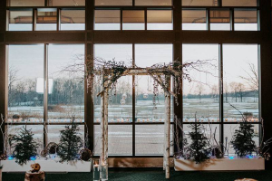 Wedding Ceremony set up at Lyon Oaks
