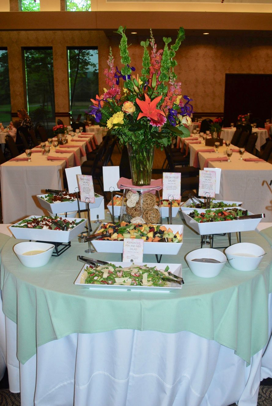 Custom Menu in Buffet at Events