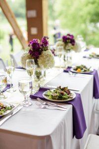 Plated Salad on Wedding Menu