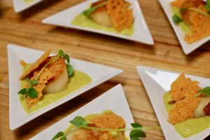 Scallops Entree at Corporate Event