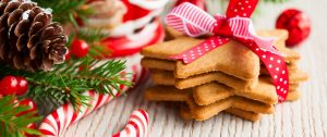 Holiday cookies and decor