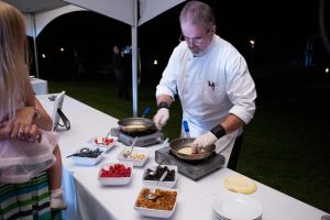 Chef Cooks Crepes at Wedding Crepe Station