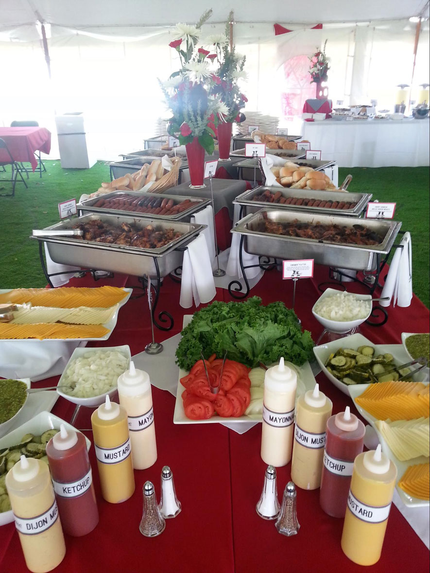 Company Picnic Outdoor Buffet Under Tent